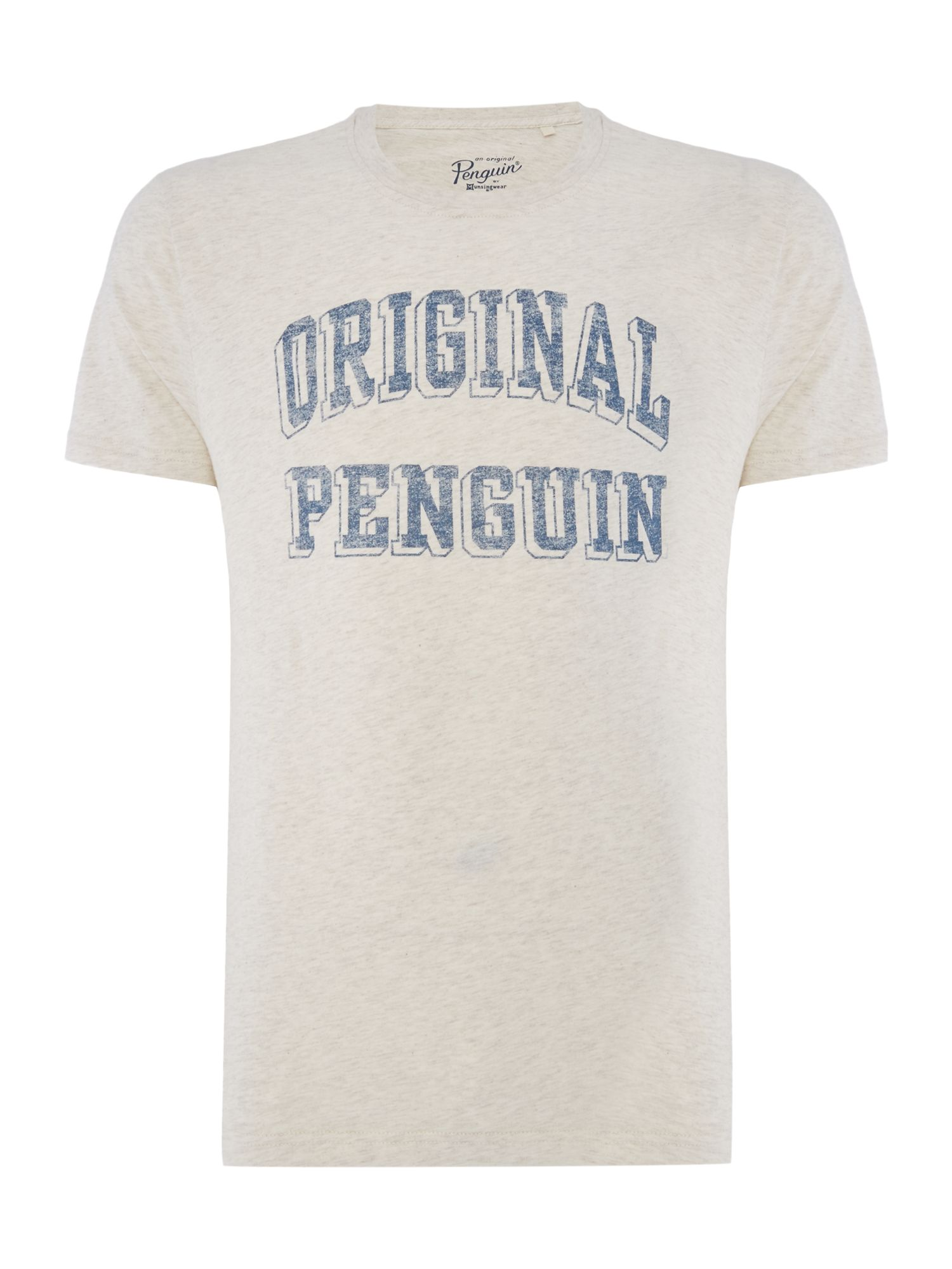 Men's Original Penguin 3-D Graphic-Block T-shirt, Light Grey Marl