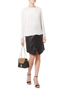 Biba Victoriana pleated lace blouse