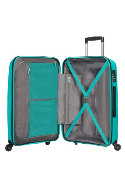 American Tourister Bon Air deep turquoise 4 wheel hard medium case