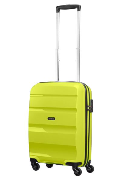 American Tourister Bon Air lime green 4 wheel hard cabin suitcase