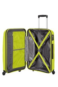 American Tourister Bon Air lime green 4 wheel hard medium suitcase
