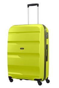 American Tourister Bon Air lime green 4 wheel hard large suitcase