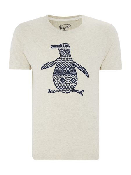 Original Penguin Fairisle Pete Crew-Neck Short-Sleeve T-shirt