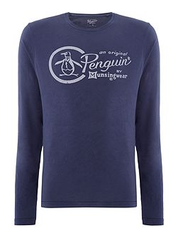Garment-Dyed Logo Long-Sleeve T-shirt