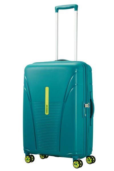 American Tourister Skytracer spring green 4 wheel 68cm medium case