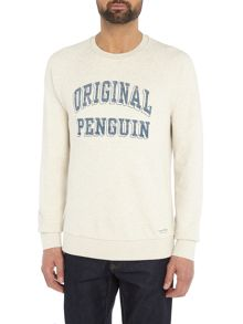 Original Penguin Graphic-Block Crew-neck Jumper