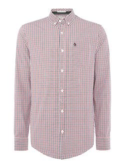 Gingham Button-Through Long-Sleeve Shirt