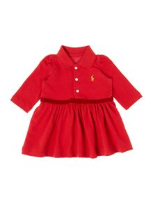Polo Ralph Lauren Girls Dress Long Sleeve Polo