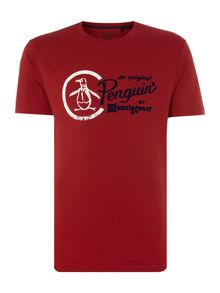Original Penguin Large-Logo Crew-Neck T-shirt