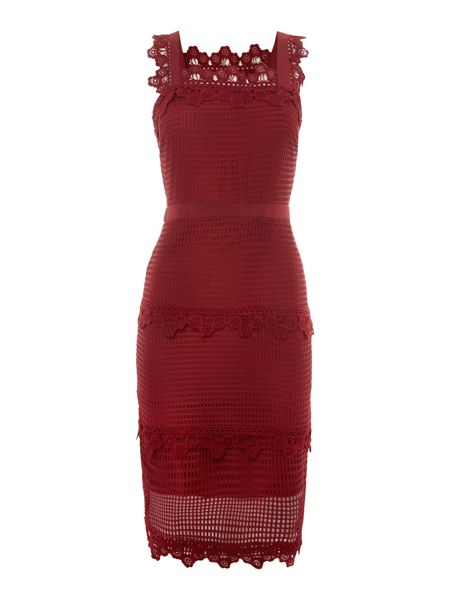 Endless Rose Sleeveless Lace Detail Strap Dress