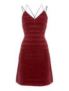 Endless Rose Sleeveless V Neck Texture Dress
