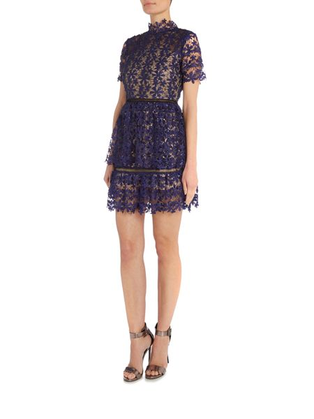 Endless Rose Shortsleeve Lace And Sequin Detailed Dress
