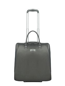 Lady plume anthracite grey rolling tote 15 inch