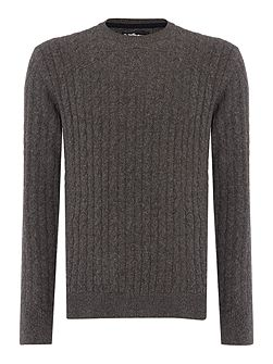Essential cable crew neck jumper