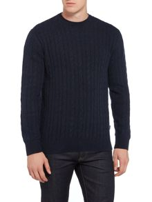 Barbour Essential cable crew neck