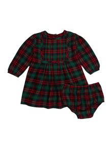 Polo Ralph Lauren Girls Dress Long Sleeve Tartan