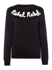 Endless Rose Longsleeve Knitted Pearl Embellished Sweater