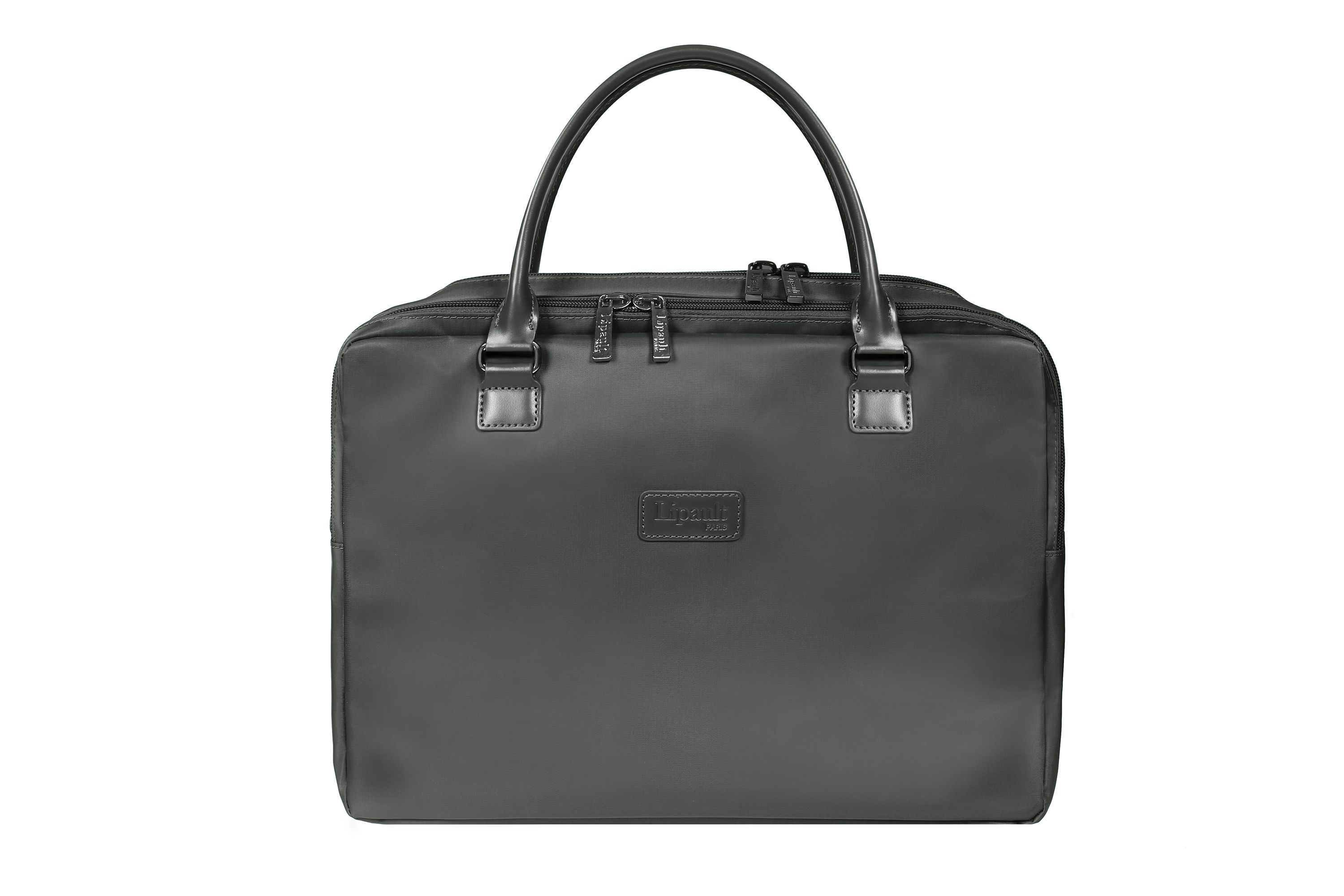 Lipault Lady Plume Anthracite Grey Laptop Bag 15.6 inch, Grey
