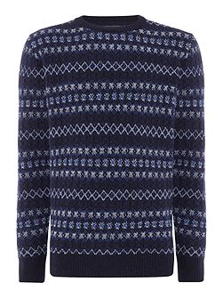Harvard Fairisle crew-neck jumper