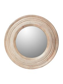 Junipa Analise round wood mirror 56cm diam