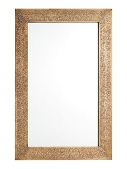 Amba brass embossed metal mirror 60x90cm