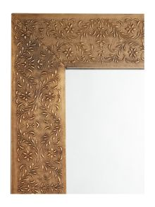 Junipa Amba brass embossed metal mirror 60x90cm