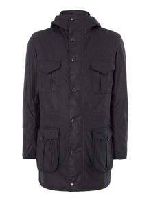 Barbour Oakham waxed hooded jacket