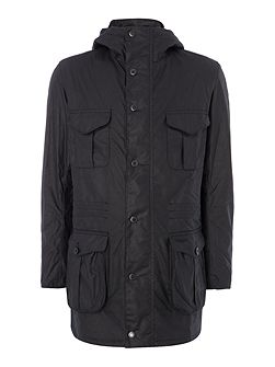 Oakham waxed hooded jacket