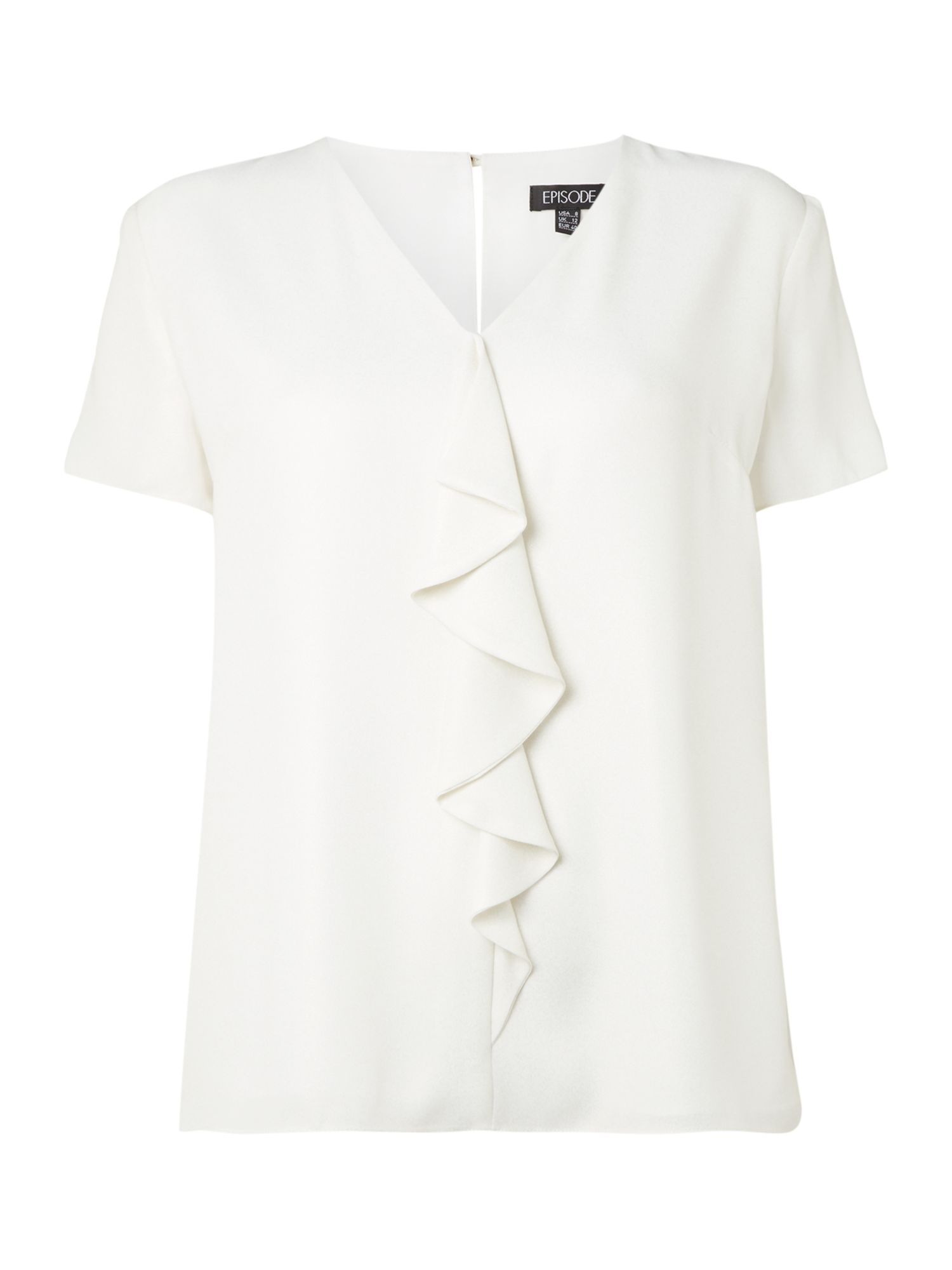 Episode Episode Ruffle short sleeved top, White