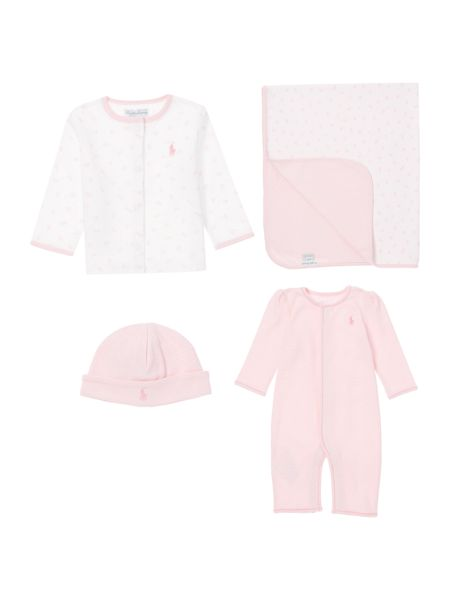 Polo Ralph Lauren Baby Girl 4 Piece Gift Box