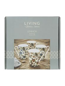 Living by Christiane Lemieux Painterly floral mugs set of 4