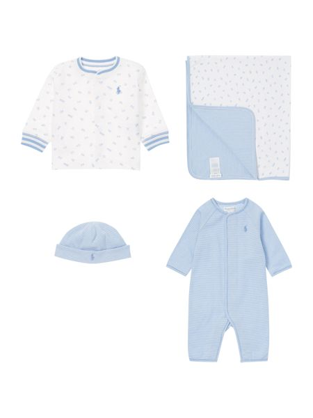 Polo Ralph Lauren Baby Boy`s 4 Piece Gift Box