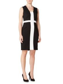 Episode Sleeveless colour block shift dress