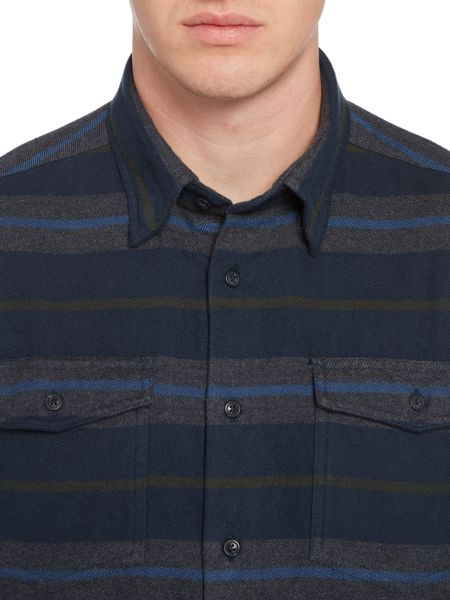 Barbour Deck long sleeve striped 2 pocket shirt