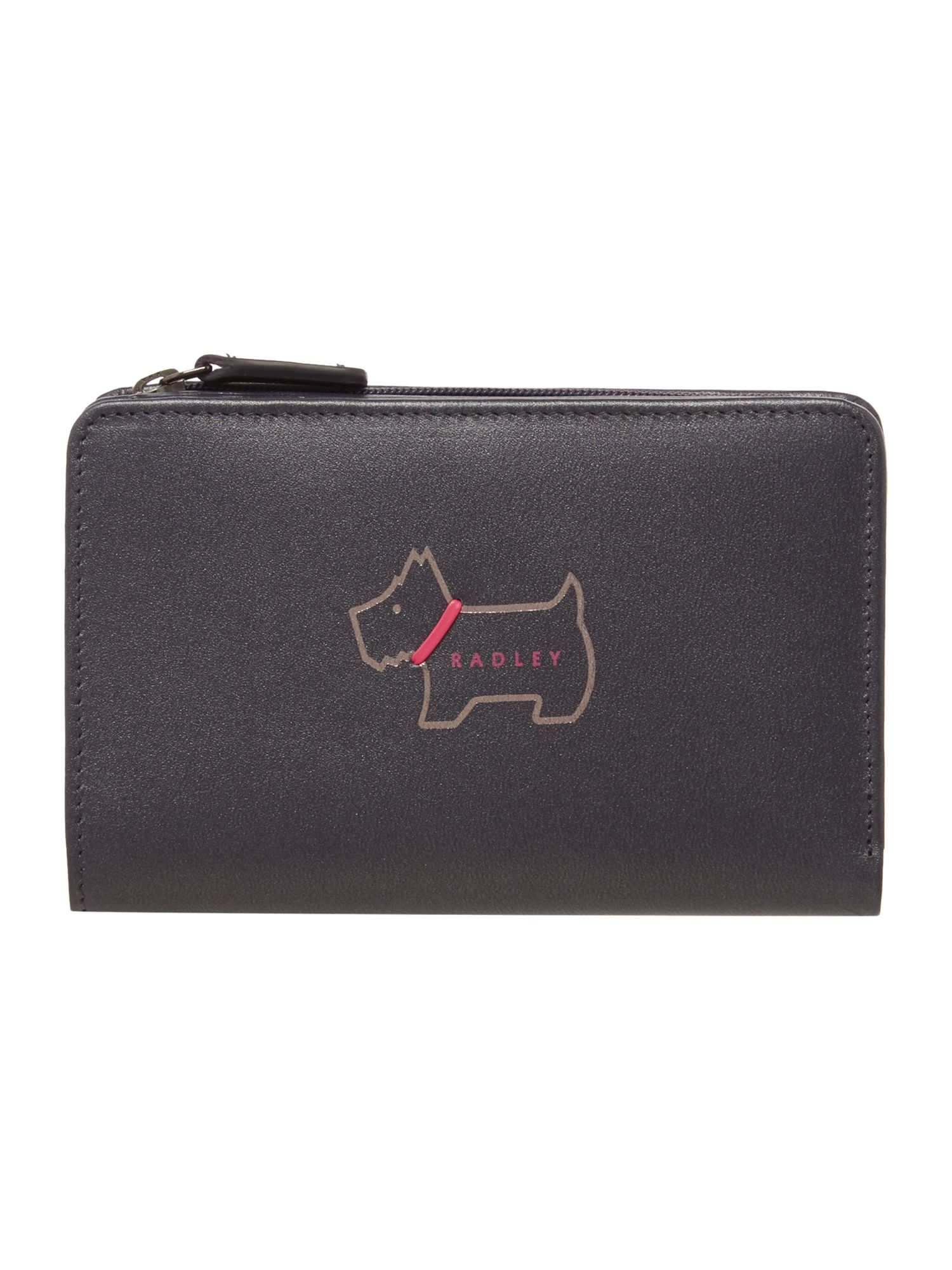 Radley Heritage dog medium purse Navy