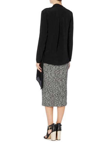 Label Lab Riker charcoal brushed rib skirt