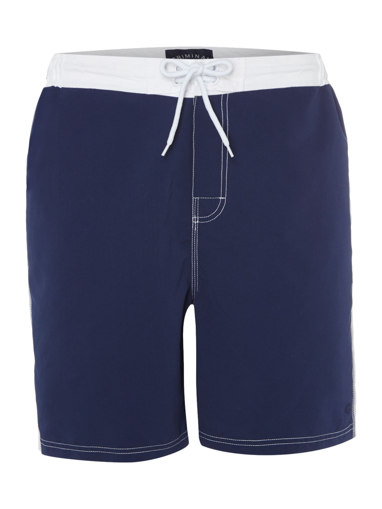 Men's Criminal Cut And Sew Board Short, Blue