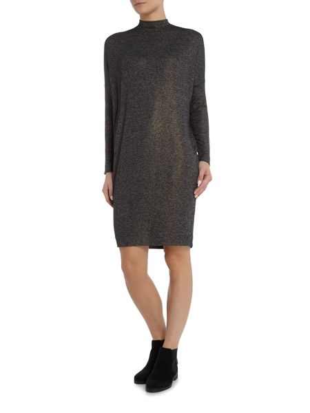 InWear Long sleeve cowl neck dress with slip