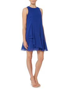 Eliza J Sleeveless chiffon ruffle hem dress