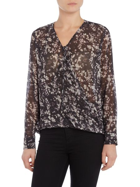 InWear Printed v neck blouse