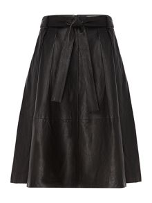 InWear Leather a-line skirt