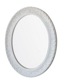 Linea Charlotte oval resin mirror 64x53cm