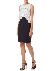 Lauren Ralph Lauren Shift dress with lace top