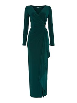 Long sleeved jersey gown