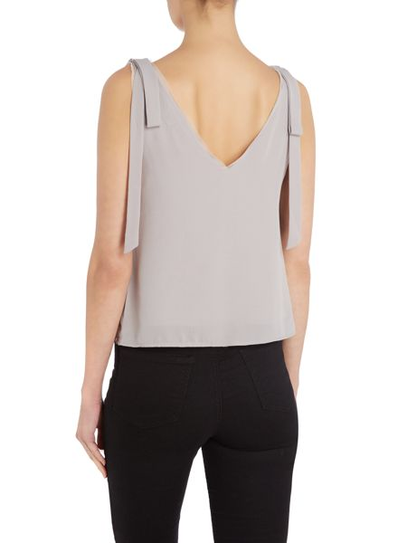 Little White Lies Sleeveless Deep V Neck Top
