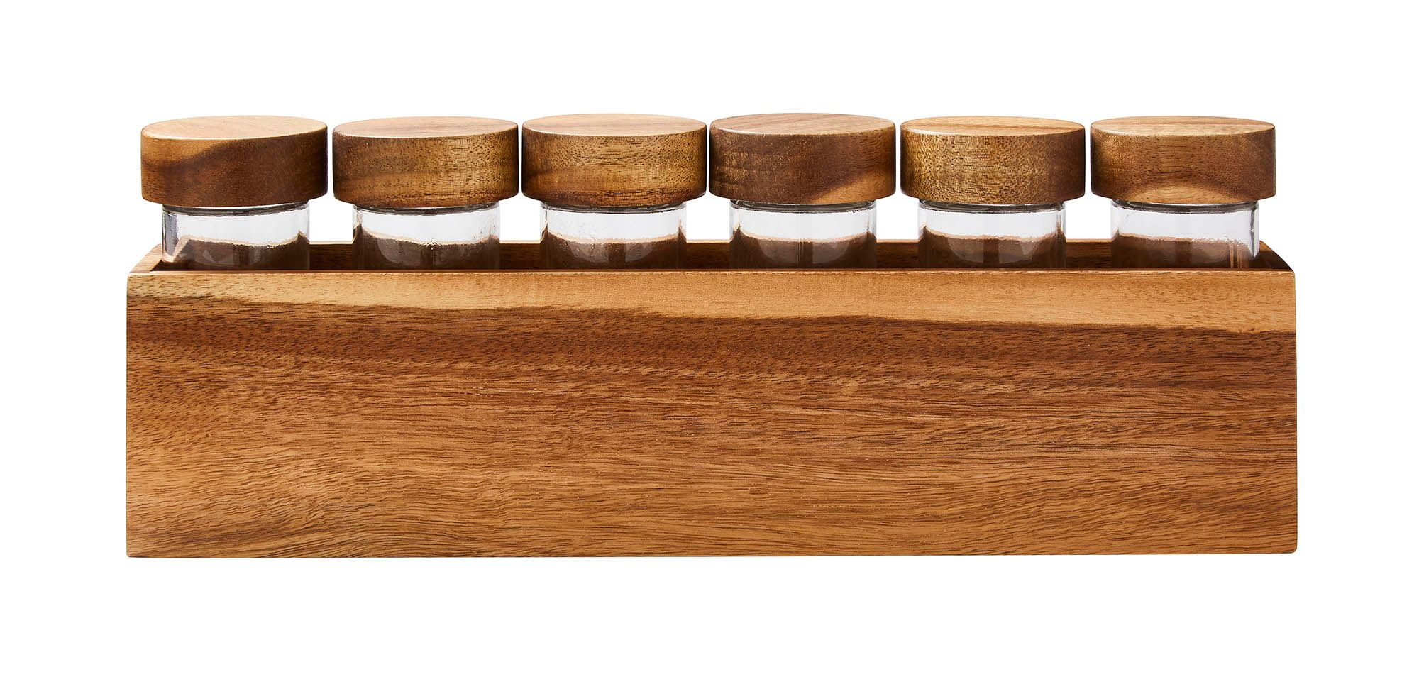 Gray & Willow Acacia Long Spice Rack