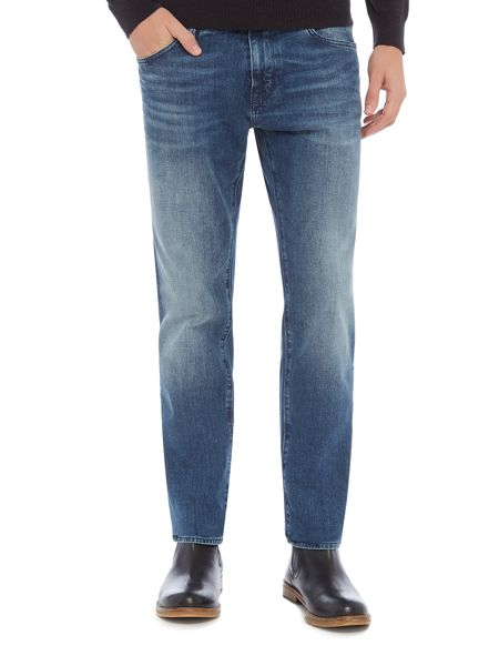 Hugo Boss Maine regular fit dark wash jeans