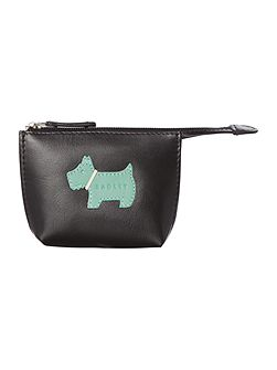 Heritage dog small zip coin purse