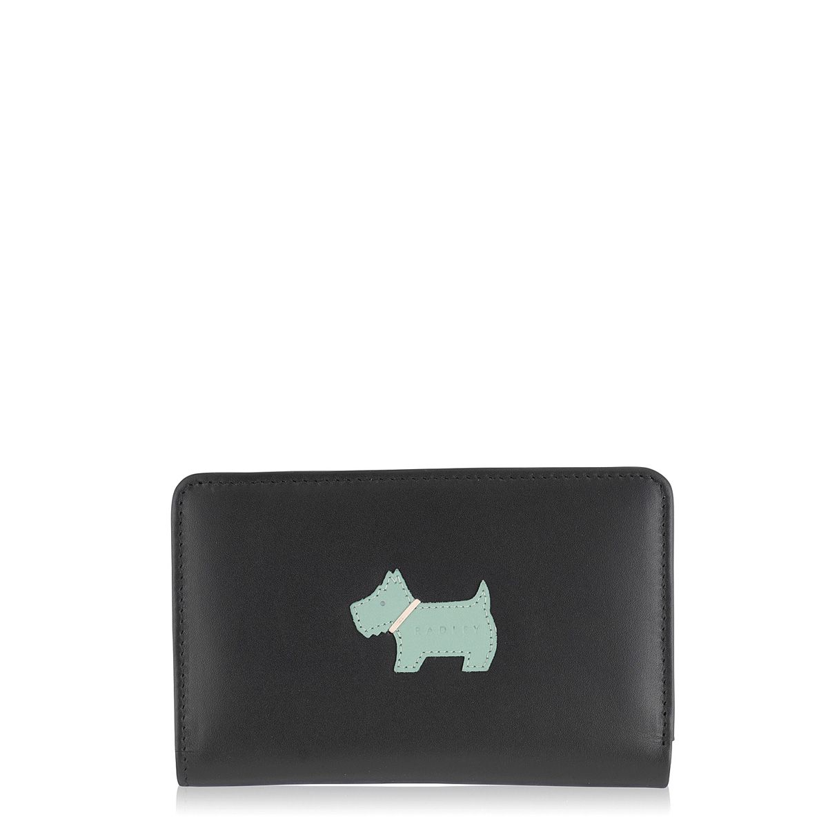 Radley Heritage dog medium zip purse Black