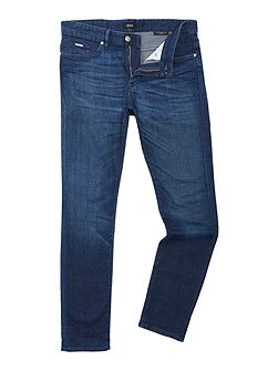 Delaware slim fit mid used jeans